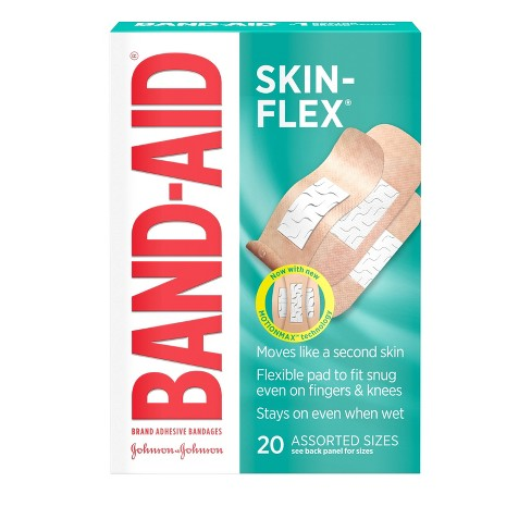 Band Aid Brand Skin-Flex Assorted Sizes Adhesive Bandages -20ct - image 1 of 4