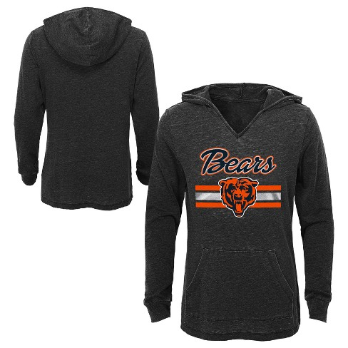 on sale 3e7e2 086ac NFL Chicago Bears Girls' Game Time Gray Burnout Hoodie
