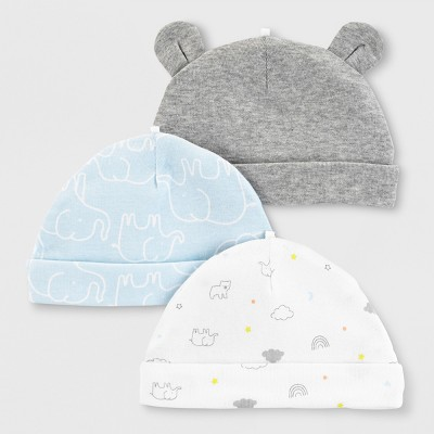 Baby Boys' 3pk Hats - Just One You® made by carter's 0-3M