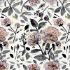 Mona Floral Blackout Curtain Panel Lavender - Cloth & Co. - image 5 of 6
