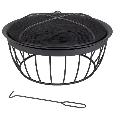 "Mason 30"" Round Wood Burning Fire Pit - Pleasant Hearth"