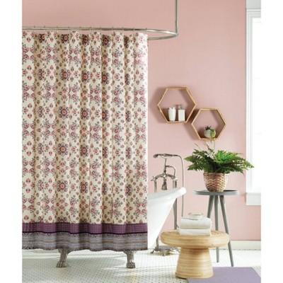 Lola Shower Curtain Purple/Ivory - Jessica Simpson