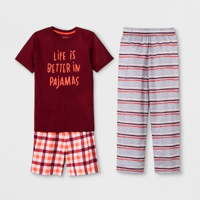 Boys' 3pc Life is Better in Pajamas Graphic Pajama Set - Cat & Jack™ Red S