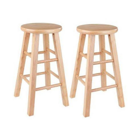 Marvelous Winsome Wood 24 Counter Stool Natural Set Of 2 Uwap Interior Chair Design Uwaporg