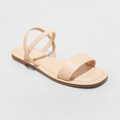 Women's Emerson Elastic Ankle Strap Sandals - A New Day™