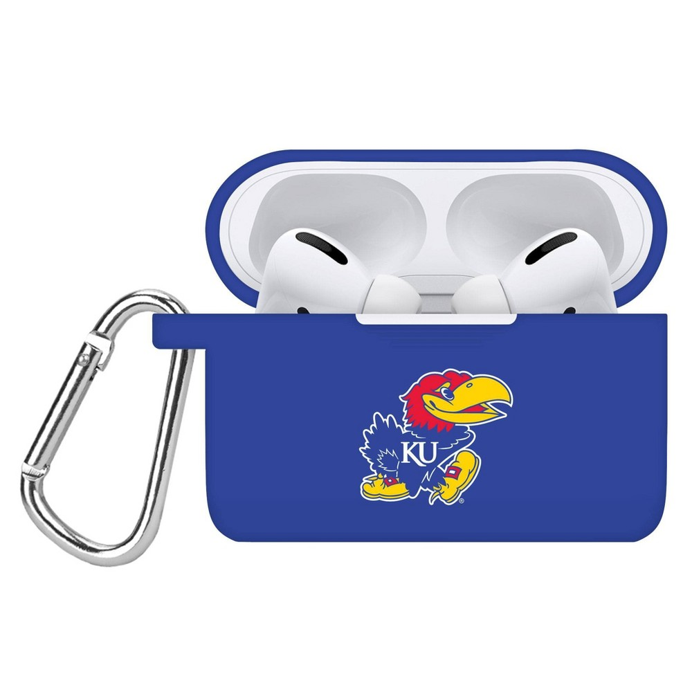 Ncaa Kansas Jayhawks Apple Airpods Pro Compatible Silicone Battery Case Cover Blue