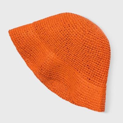 Kids' Paper Straw Hat - Cat & Jack™ Solid Orange
