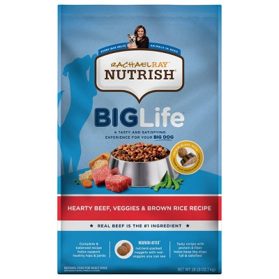 Rachael Ray Nutrish Big Life Hearty Beef Large Breed Adult Dry Dog Food