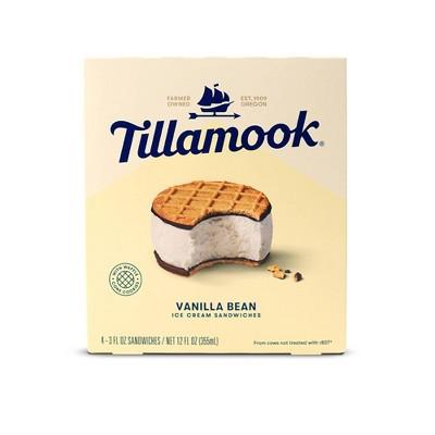 Tillamook Vanilla Bean Ice Cream Sandwich - 12oz/4ct
