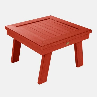 Adirondack Patio Side Table Rustic Red - highwood