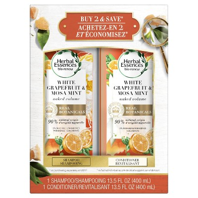 Herbal Essences bio:renew White Grapefruit & Mosa Mint Shampoo and Conditioner Bundle Pack