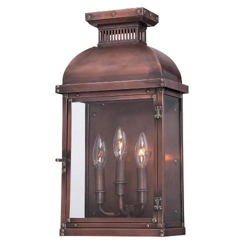 The Great Outdoors 9073 264 3 Light Outdoor Wall Sconce From Copperton Collection