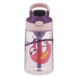 Contigo 14oz Plastic Kids Autospout Tritan Sloth Water Bottle Pink