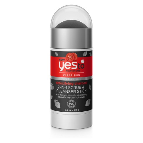 Yes to Tomatoes Charcoal Scrub+Cleanser Stick - 2.5oz - image 1 of 2
