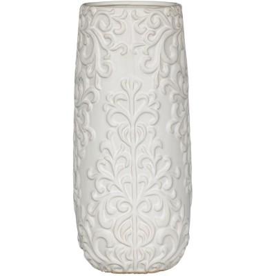 Sullivans Embossed Ceramic Vase