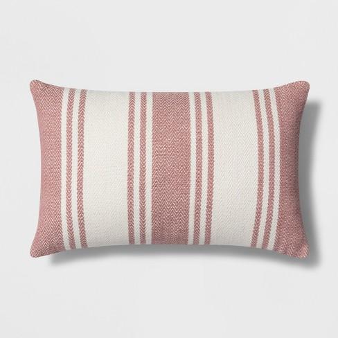 Woven Stripe Lumbar Throw Pillow - Threshold™ - image 1 of 2