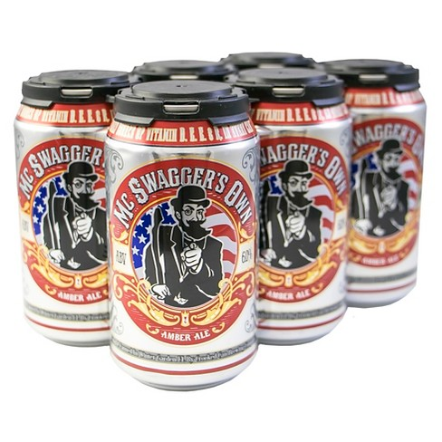 Crooked Can McSwagger's Own Amber Ale Beer - 6pk/12 fl oz Cans - image 1 of 2