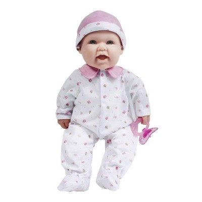 "JC Toys La Baby 16"" Doll - Pink Flower Outfit"