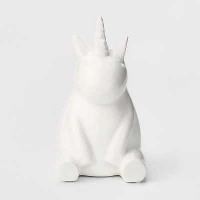 Unicorn Decorative Coin Bank - Cloud Island™ White