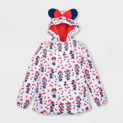 Girls' Disney Minnie Mouse Rain Jacket - Red - Disney Store