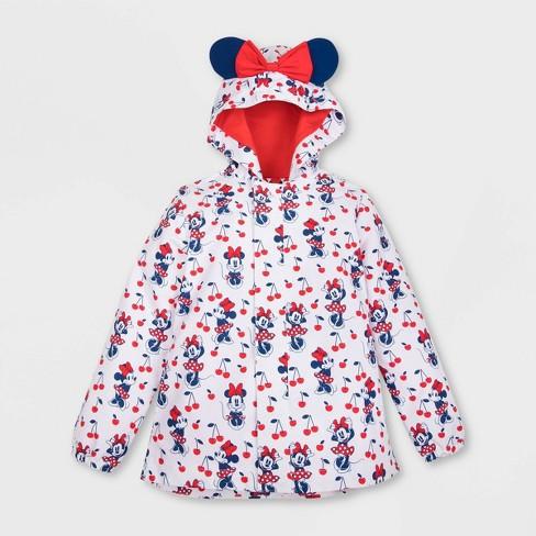 Girls' Disney Minnie Mouse Rain Jacket - Red - Disney Store - image 1 of 4