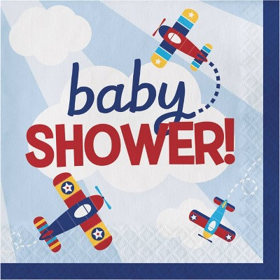 48ct Toy Airplane Baby Shower Napkins