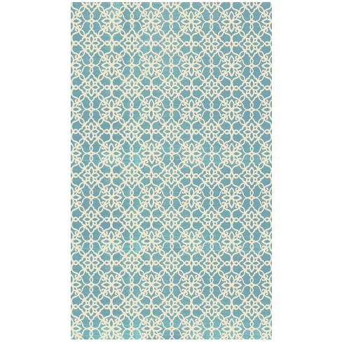 Floral Tiles 2pc Woven Rug set (cover & pad) - image 1 of 4