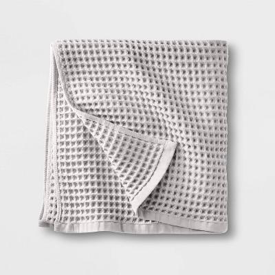 Waffle Bath Towel Light Gray - Casaluna™