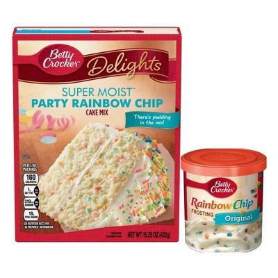 Betty Crocker Rainbow Chip Cake Mix & Frosting Bundle - 15.25oz