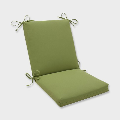 Colefax Pesto Squared Corners Outdoor Chair Cushion Green - Pillow Perfect - image 1 of 2