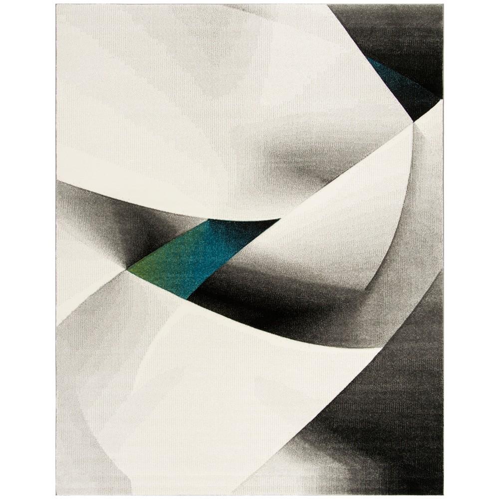 9X12 Geometric Loomed Area Rug Gray/Teal - Safavieh Reviews
