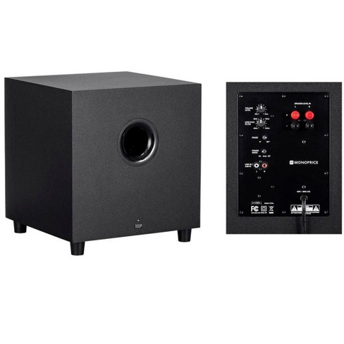 Monoprice Premium 5 1 2-Ch  Immersive Home Theater System - Black With 8  Inch 200 Watt Subwoofer