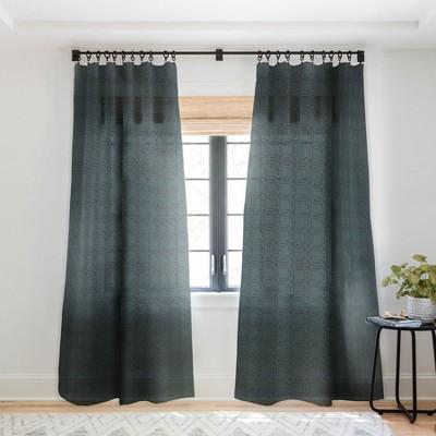 Gabriela Fuente Dark Classic Single Panel Sheer Window Curtain - Deny Designs