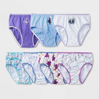 Girls' 7pk Frozen 2 'Day of the Week' Bikini Briefs Underwear - 8