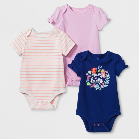 Baby Girls' Bodysuit - Cat & Jack™ Blue 18M - image 1 of 1