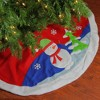 "Northlight 48"" Red and White Fleece Snowman Winter Tree Skirt Christmas Decor - image 2 of 2"