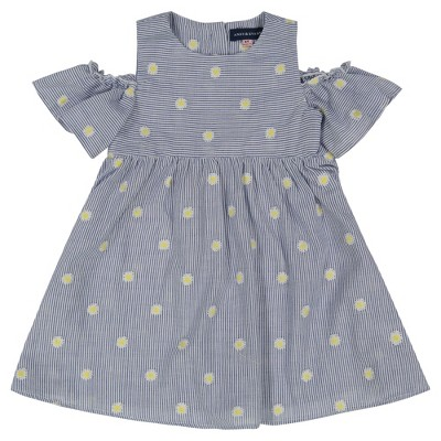 Andy & Evan  Toddler Embroidered Seersucker Dress