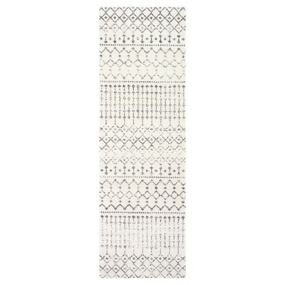 Sterling Gray Abstract Loomed Runner - (2'7 x8')- nuLOOM
