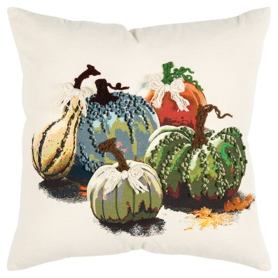 """20""""x20"""" Oversize Gourds Square Throw Pillow - Rizzy Home"""