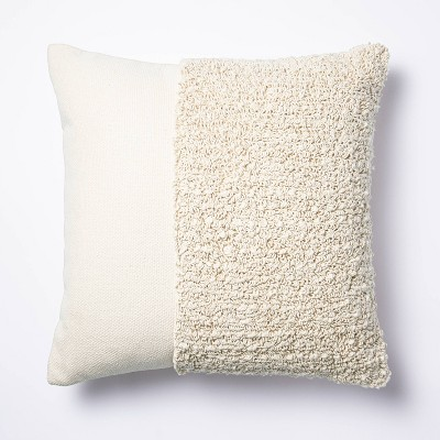 Tufted Square Throw Pillow Taupe - Threshold™ designed with Studio McGee
