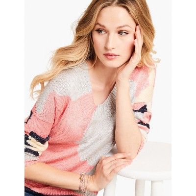 NIC+ZOE Women's Citrus Splash Sweater Pink Multi