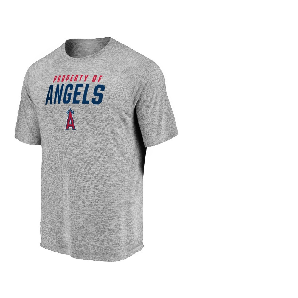 Los Angeles Angels Men's Mad Dash Gray Athleisure T-Shirt - M