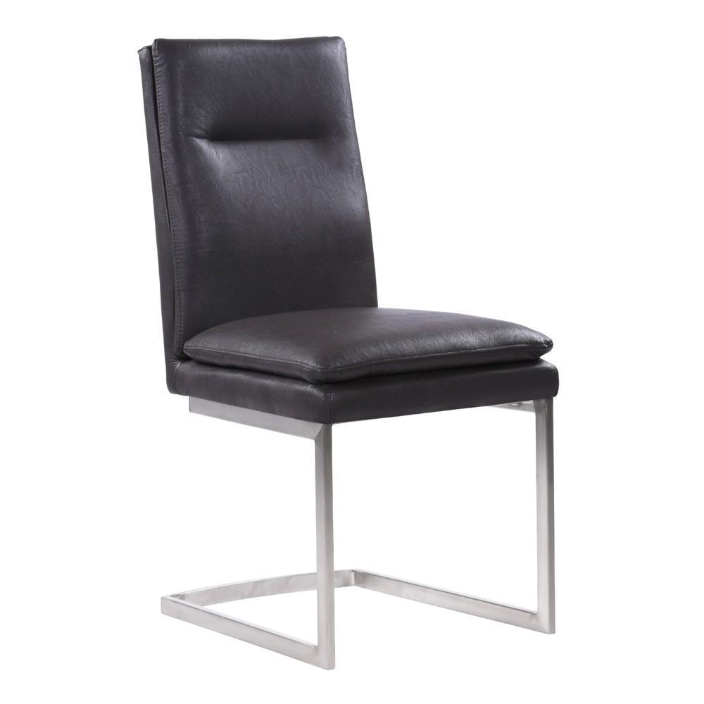 Armen Living Set of 2 Fenton Contemporary Dining Chair Gray