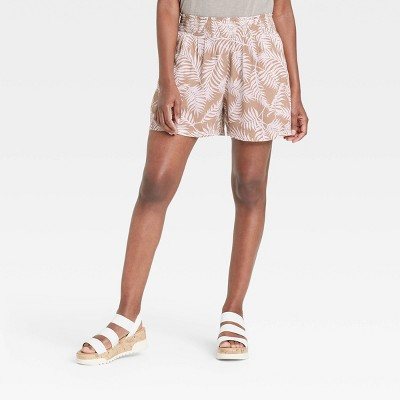 Women's Ikat Print Smocked Waist Shorts - Knox Rose™