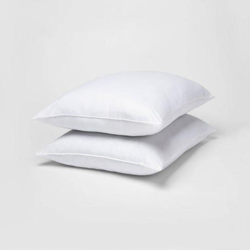 Standard/Queen 2pk Rolled Bed Pillow White - Room Essentials™ - image 1 of 1