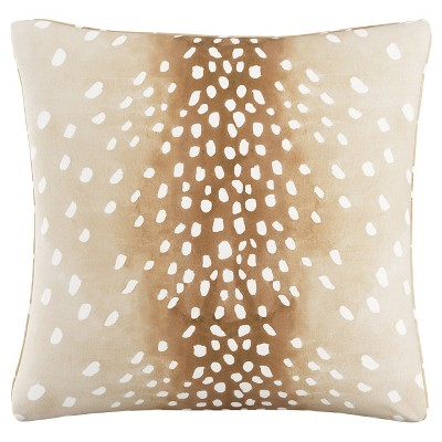 Cream Fawn Throw Pillow (20 x20 )
