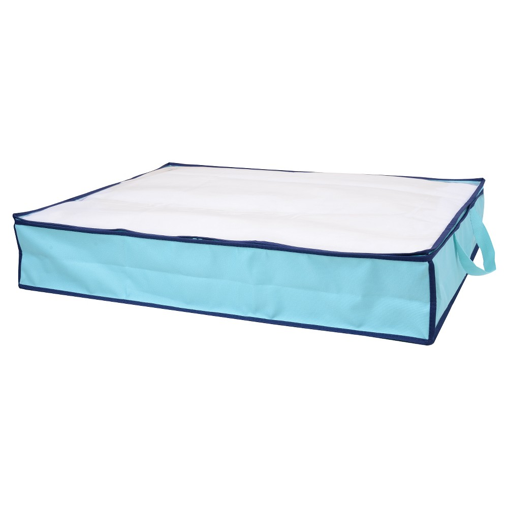 Underbed Storage Bin - Room Essentials, Blue The Room Essentials Underbed Storage Bin is a smart storage solution for extra clothing, bedding and more. Handy for small spaces, this under-bed storage tucks easily under a bed, on a shelf or in the bottom of your closet. Color: Blue.