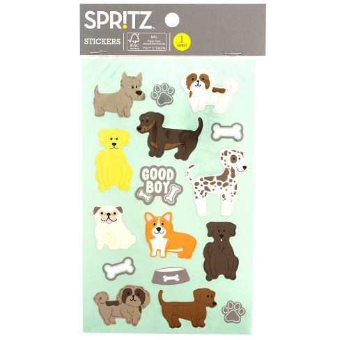 16ct Animal Stickers Dogs - Spritz™ - image 1 of 3