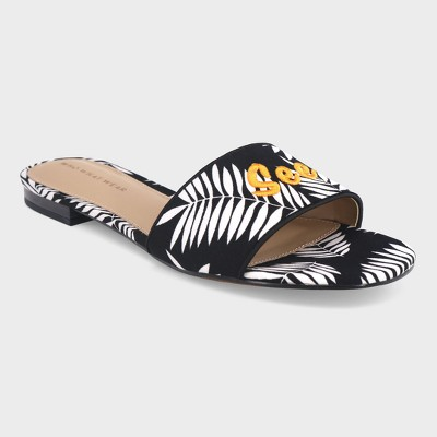 Women's Sloane Palm Slide Sandals - Who What Wear™ Black 10
