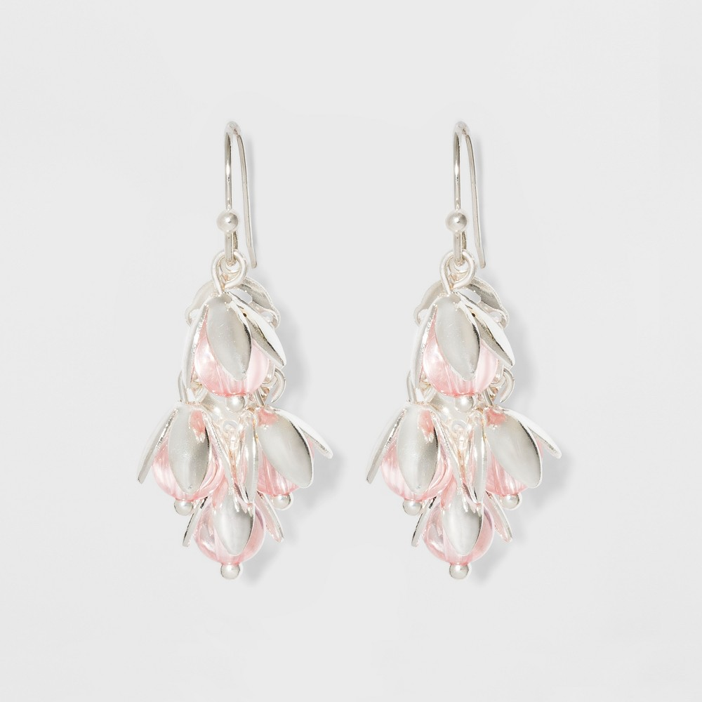 Four Flowers Earrings - A New Day Pink/Silver